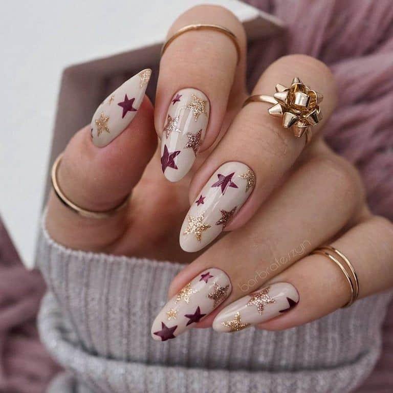 star nail designs glitter