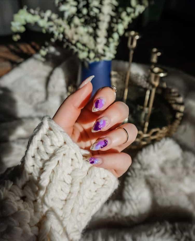 purple nails ideas short