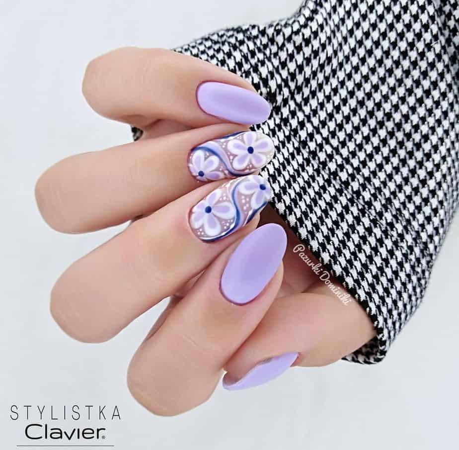 purple nails ideas cute