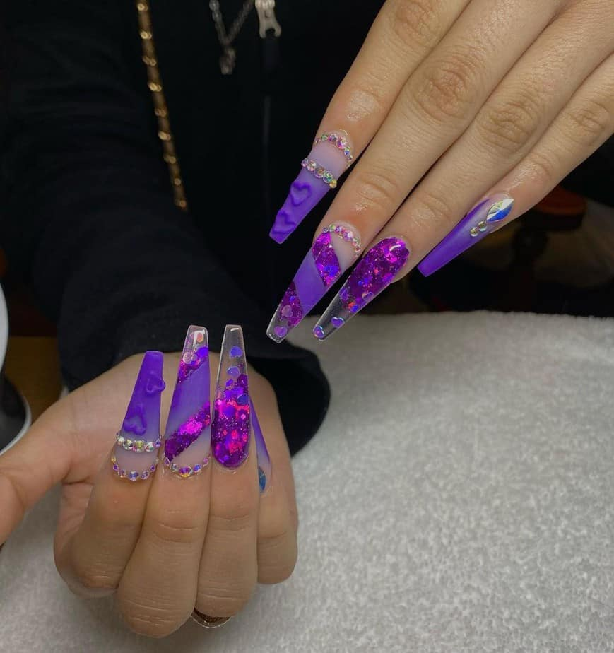 purple nails ideas dark