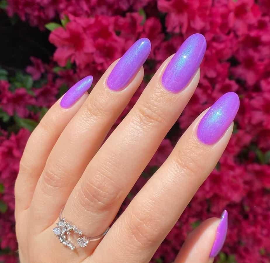purple nails ideas sparkle
