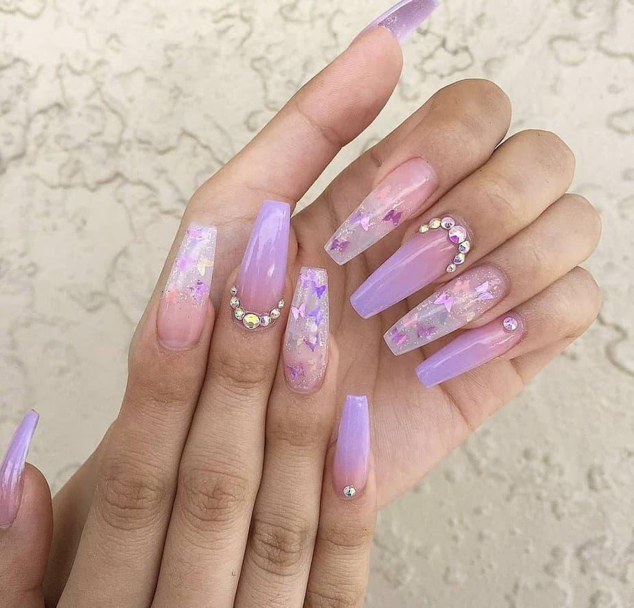 purple nails ideas light