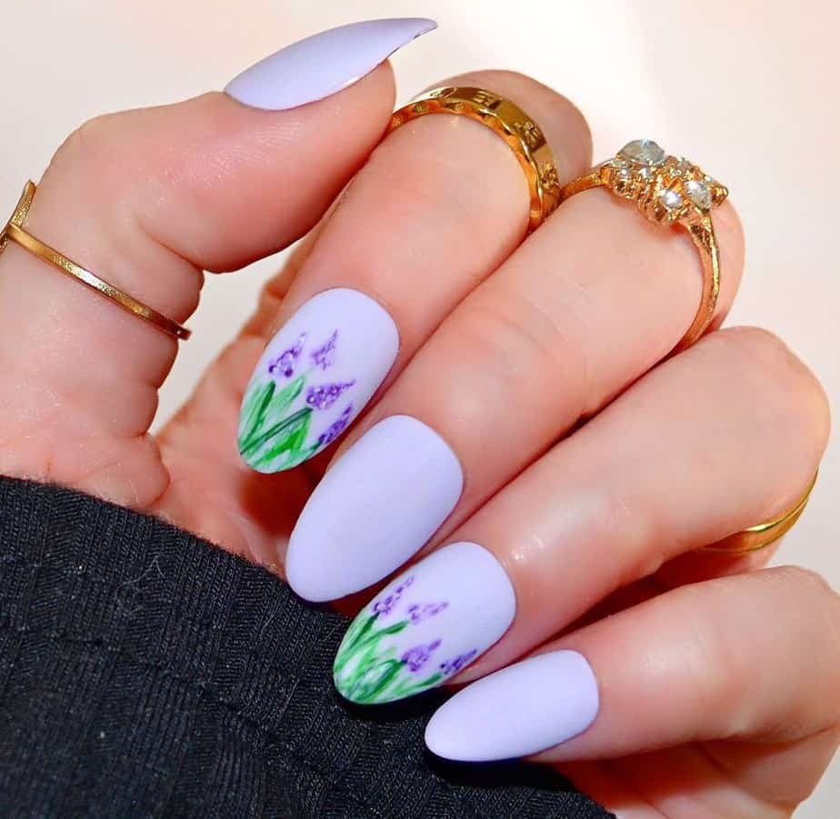purple nails ideas summer