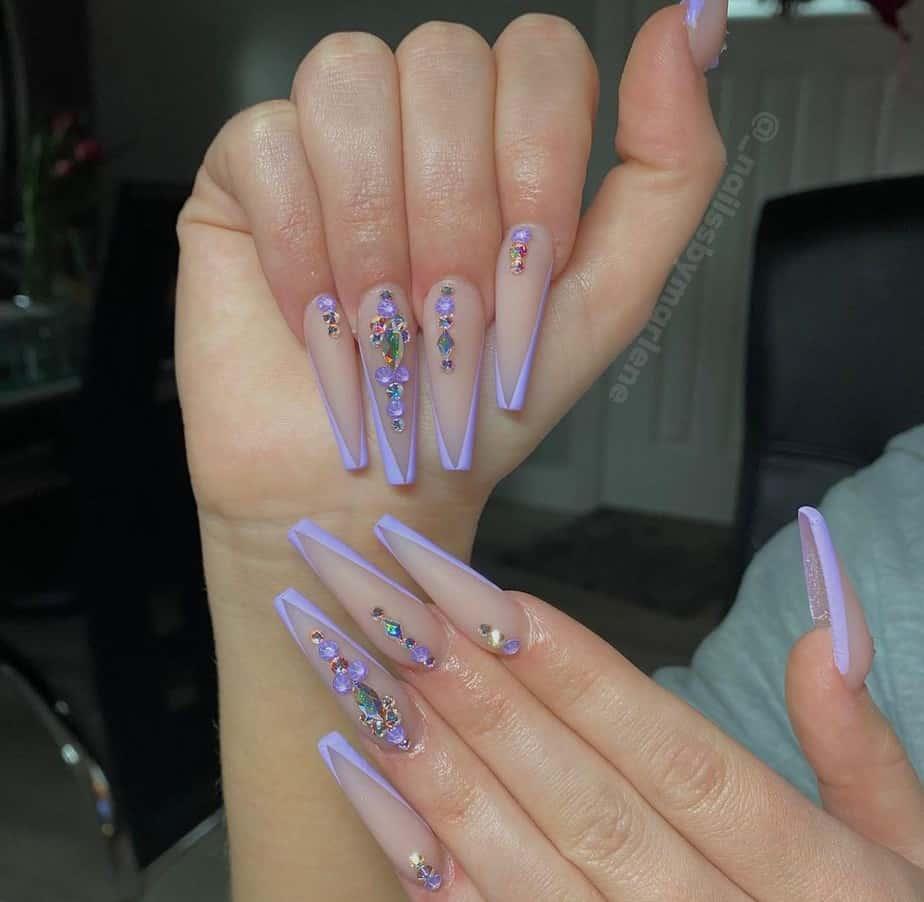 purple nails ideas long