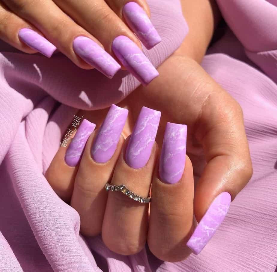 purple nails ideas matte