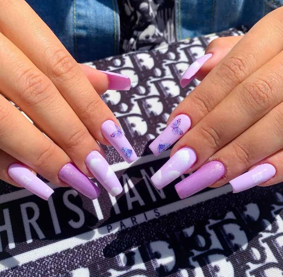 purple nails ideas aesthetic