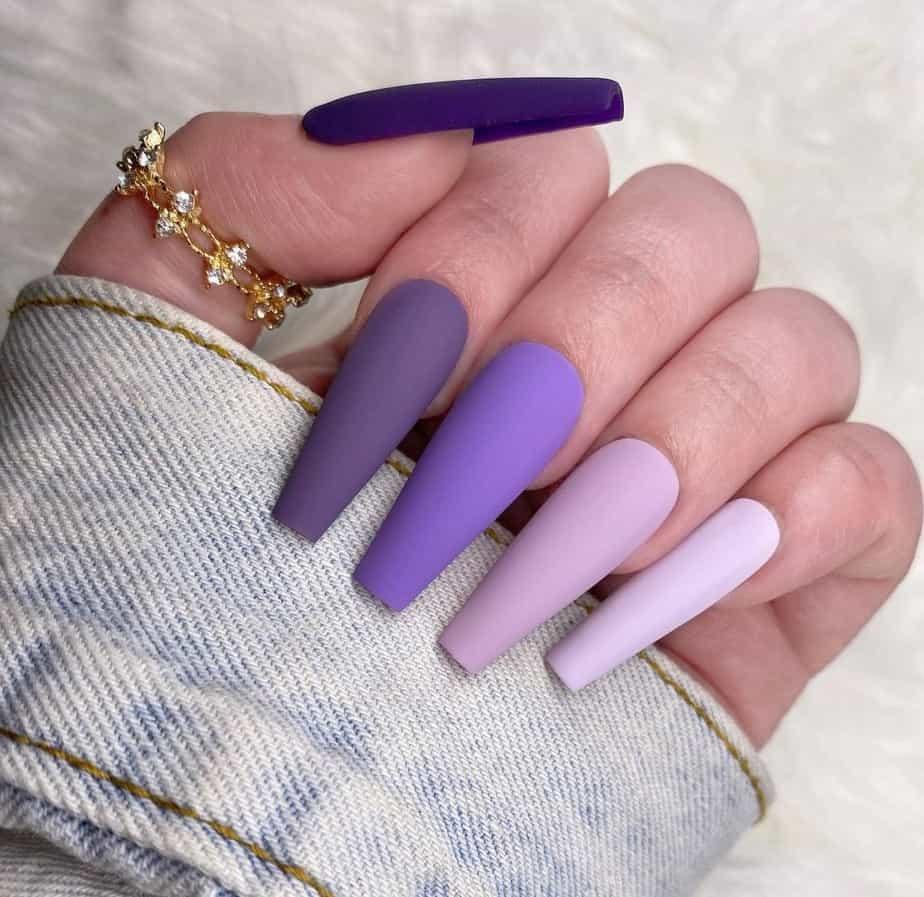 purple nails ideas simple