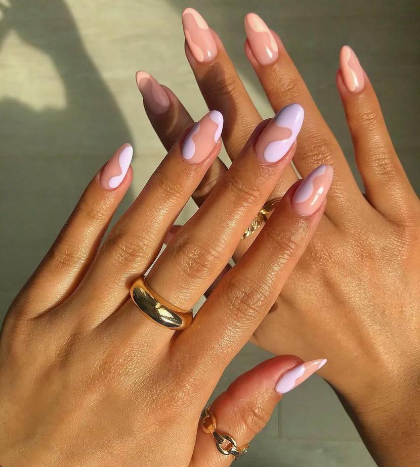 purple nails ideas almond