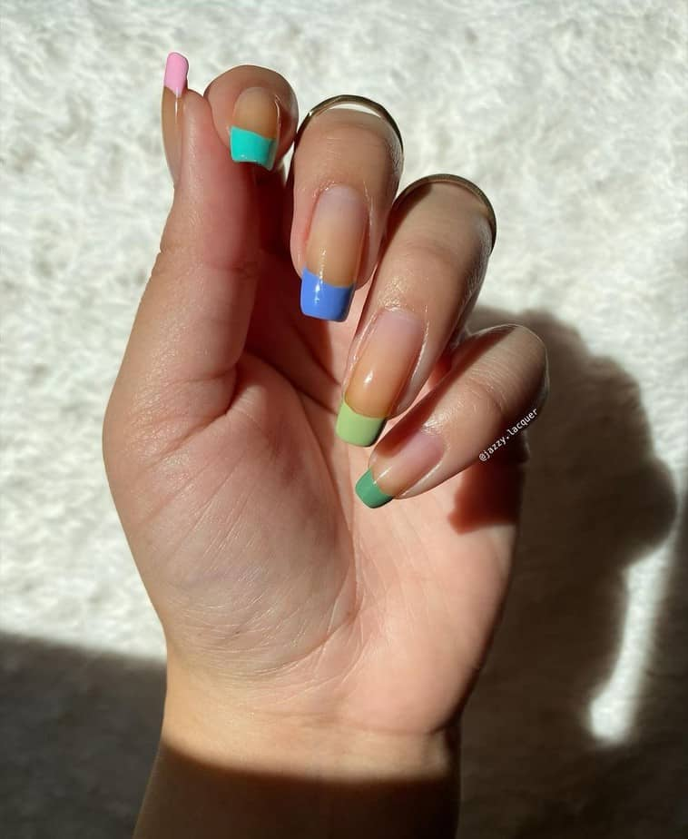 acrylic french tip nails designs cute