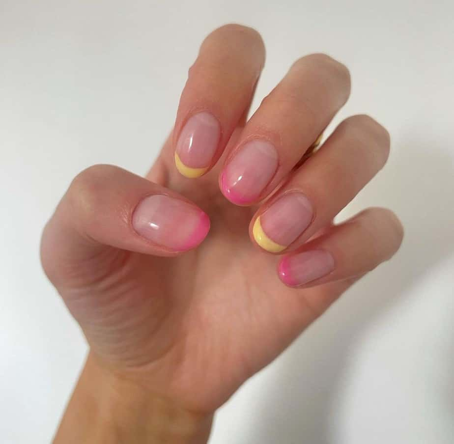short french tip nails designs