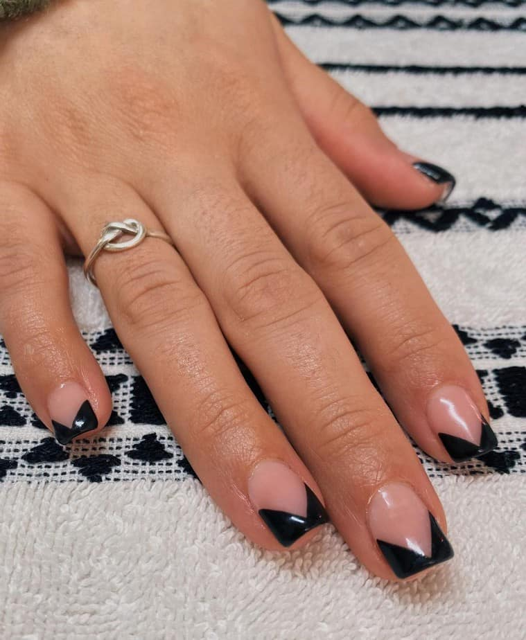black french tip nails designs