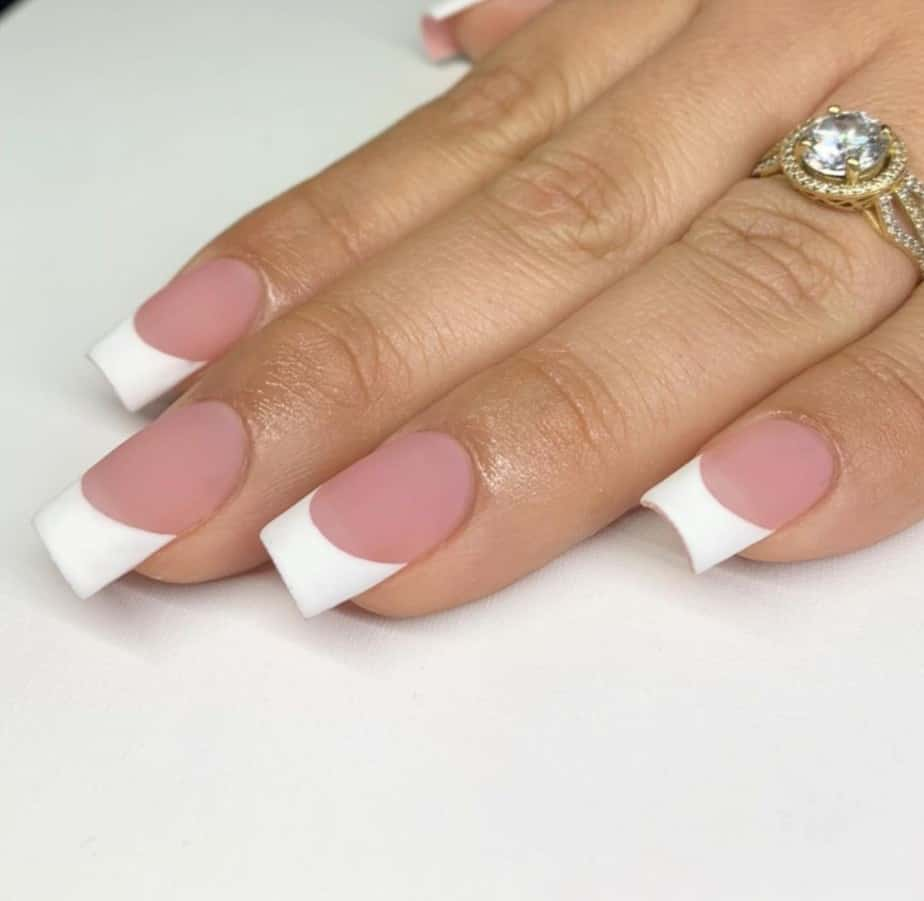white french tip nails designs