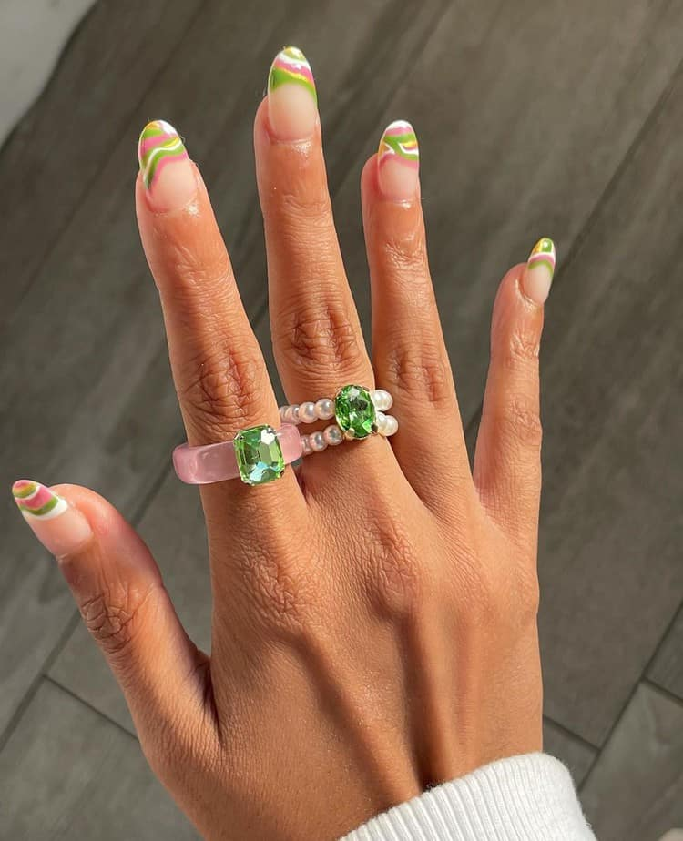 cool french tip nails designs