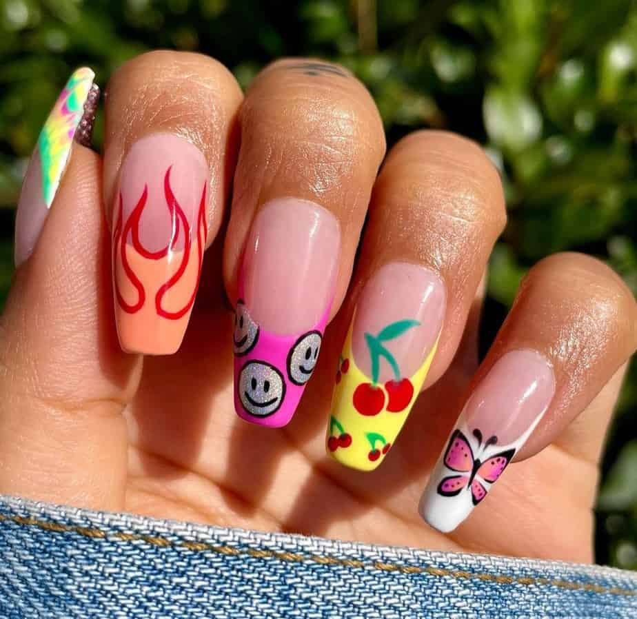french tip nails designs ideas
