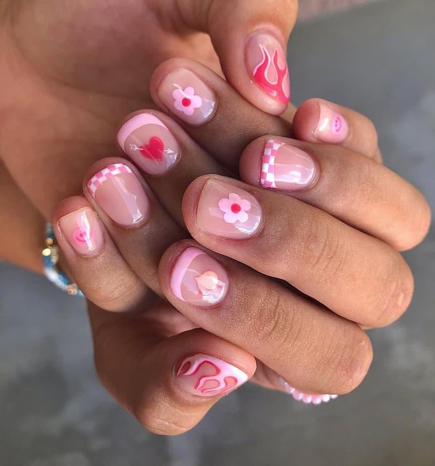 really short nail designs