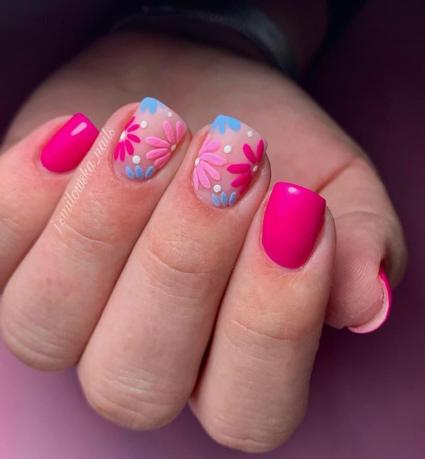 short nail designs aesthetic