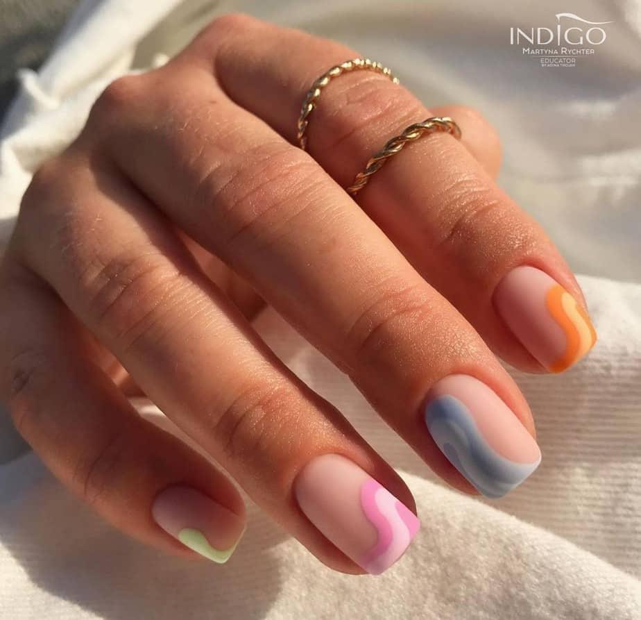 short nail designs spring