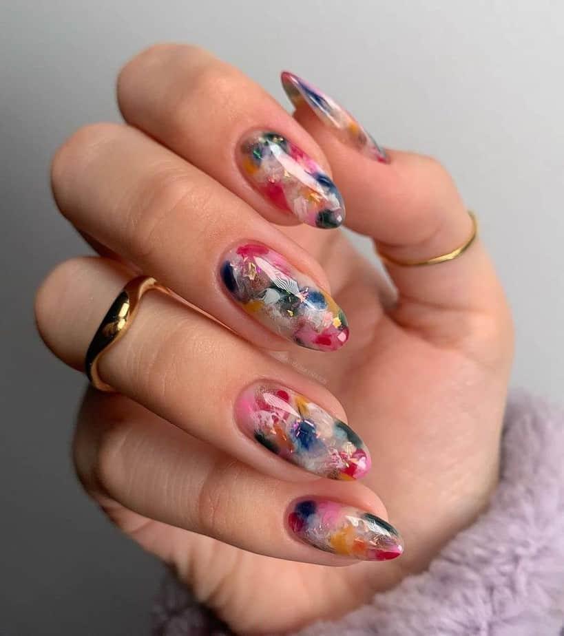 colorful short nail designs summer