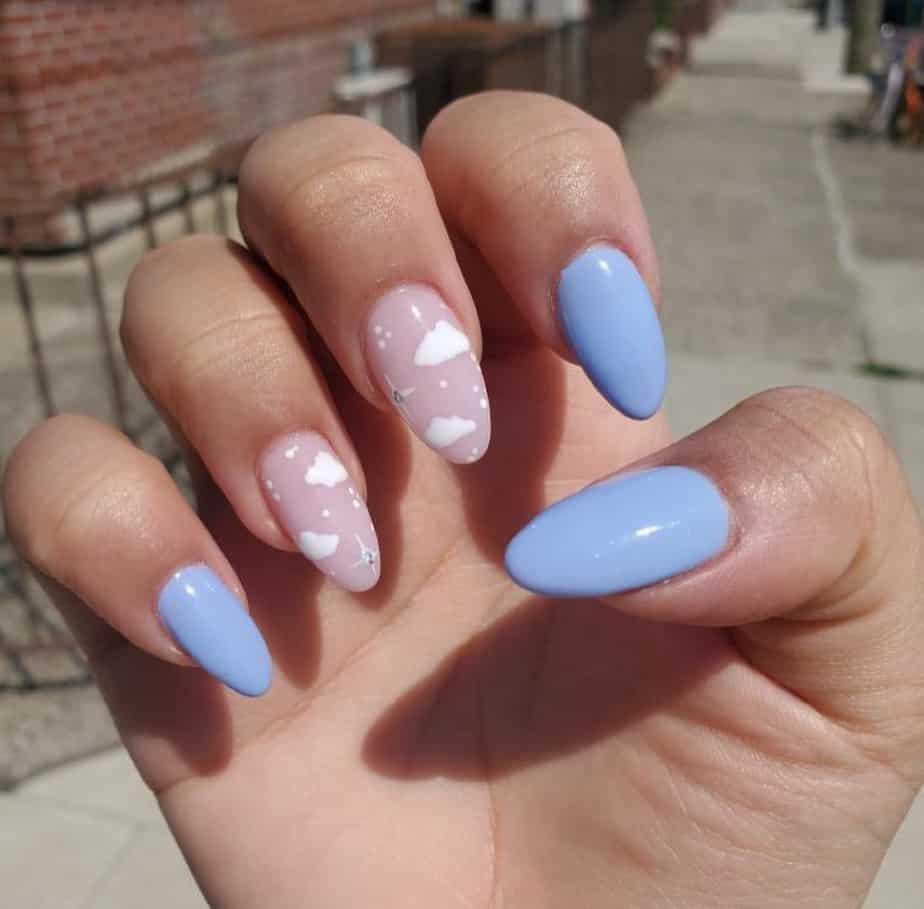 cute cloud nails ideas