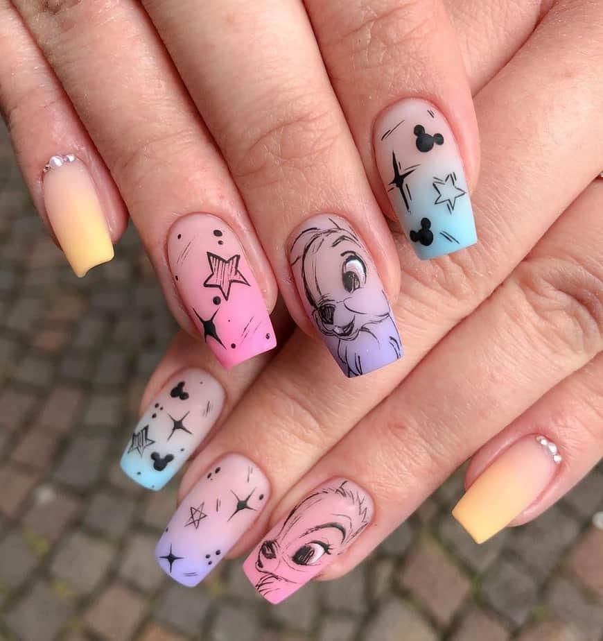 disney nail designs art