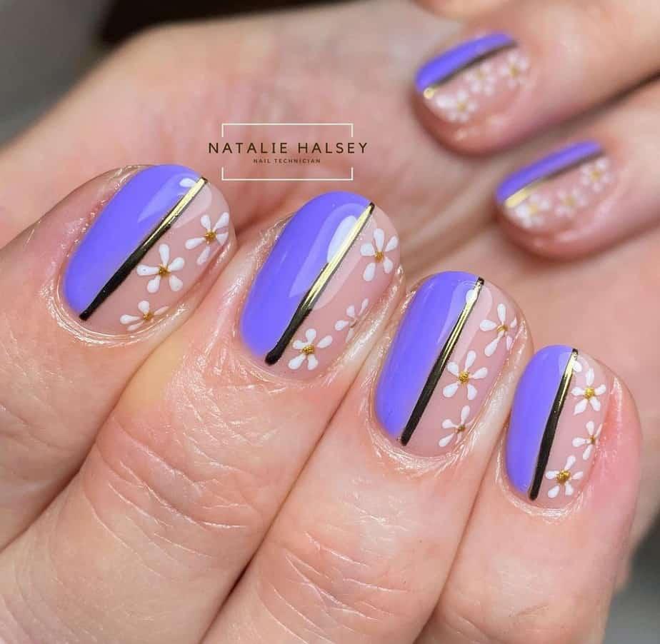 short flower nails