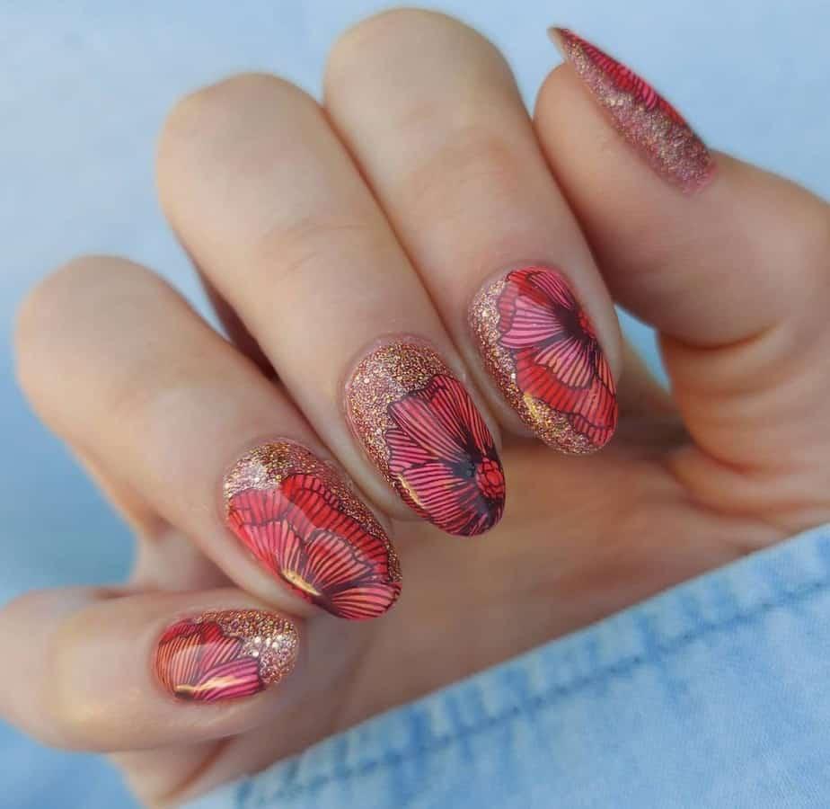flower nails designs