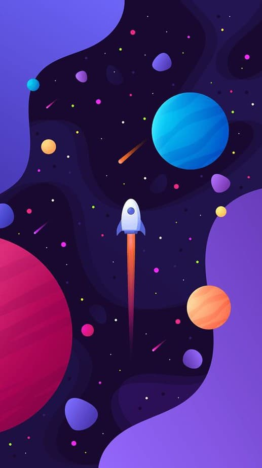 space iphone wallpaper
