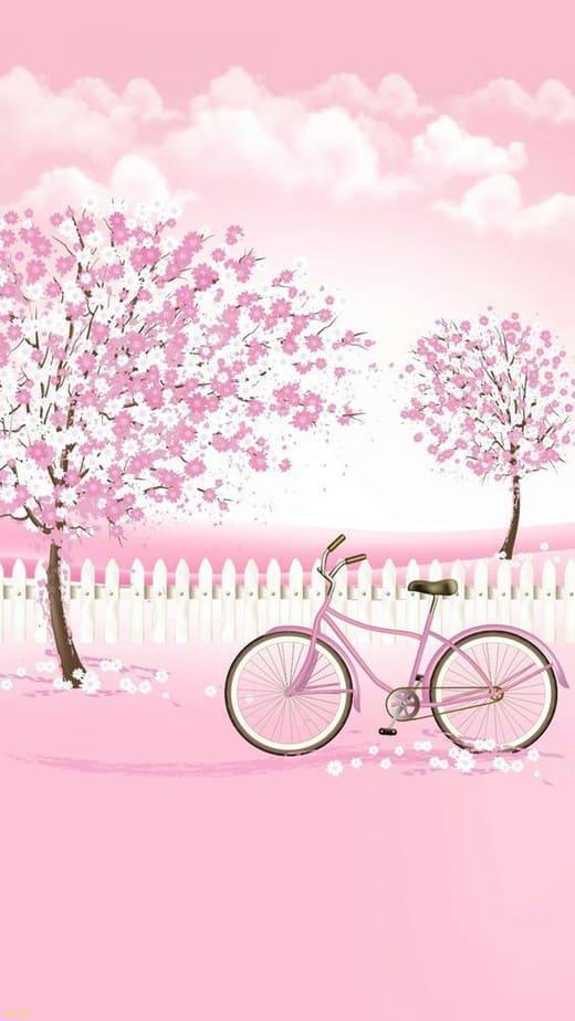 cute pink wallpaper