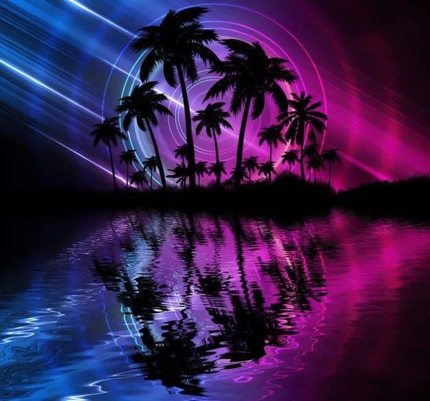neon wallpaper iphone