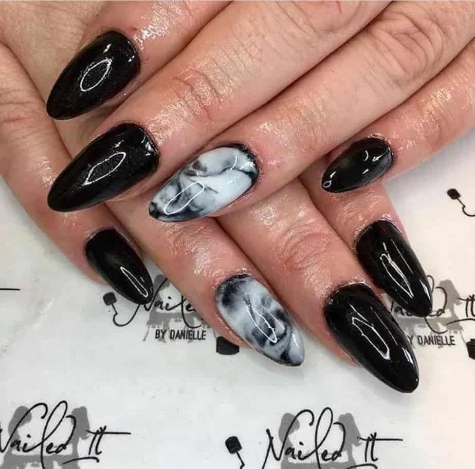 black nails ideas