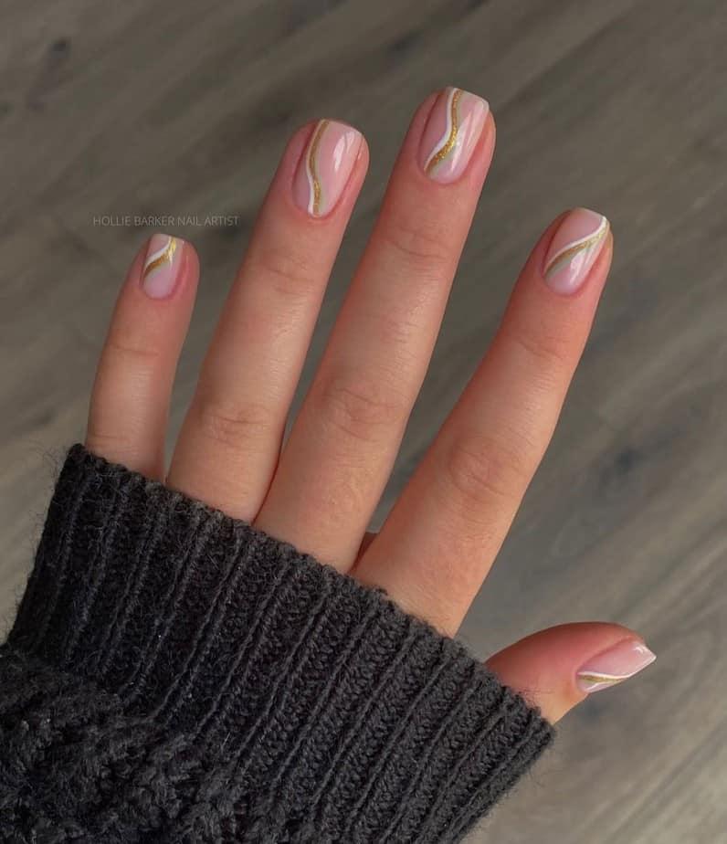 gold nail ideas
