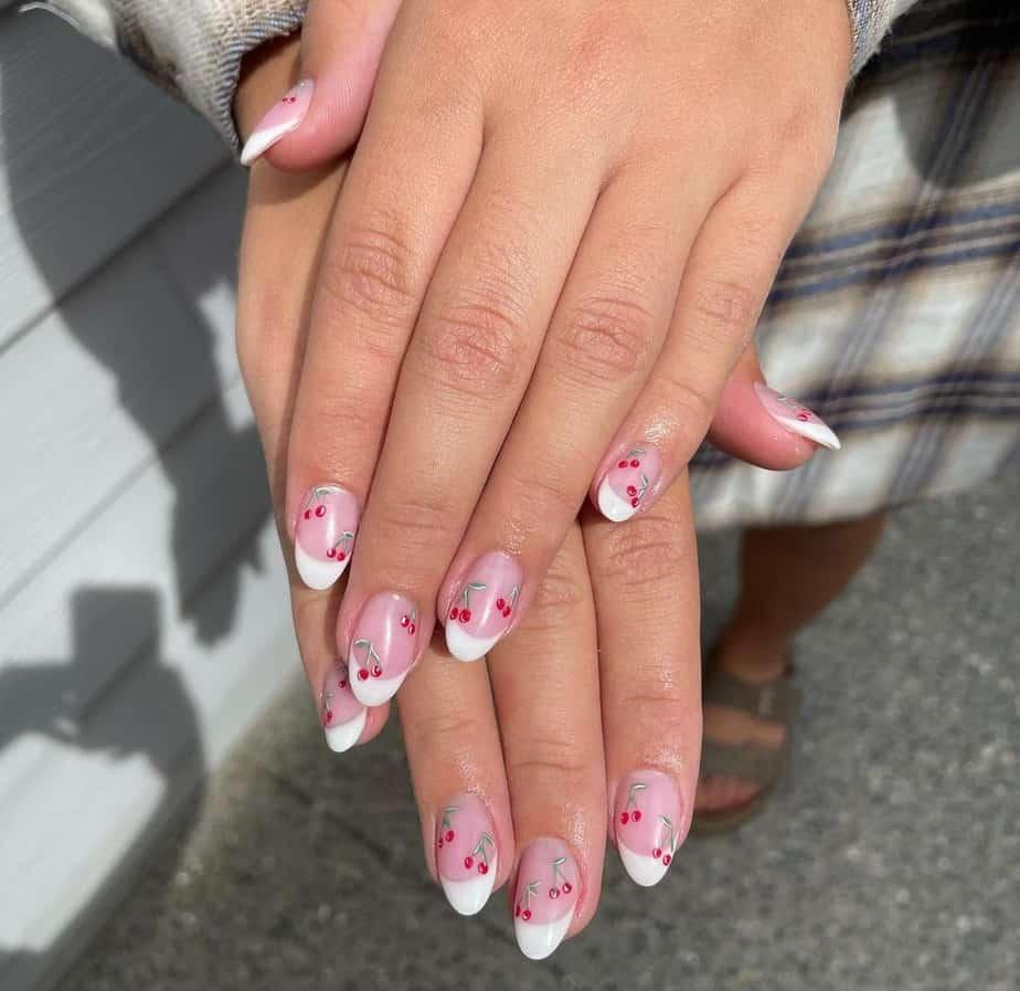 cherry nails designs